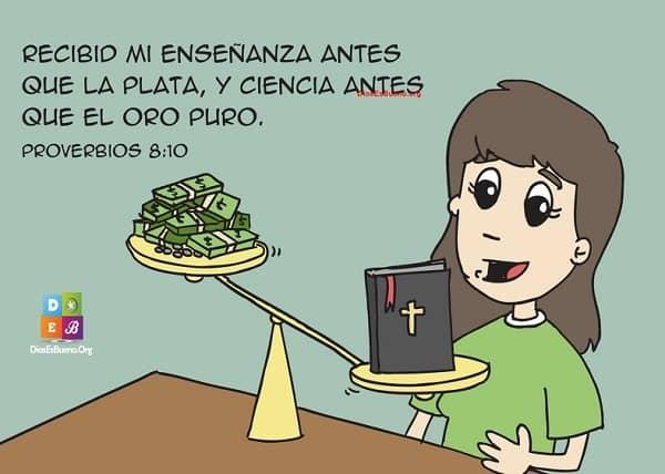 Biblia imagenes versiculos Proverbios 8:10