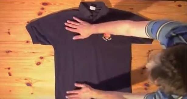 Con este truco podras doblar una camisa en menos de 2 - Como doblar una camisa ...