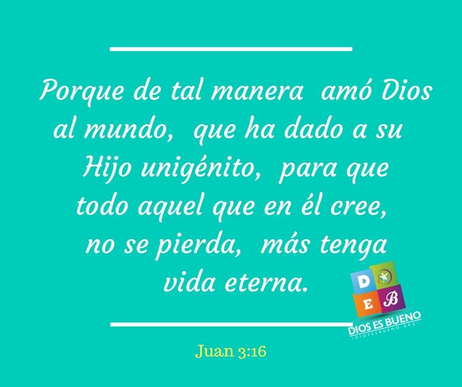 imagenes con versiculos Porque de tal manera amó Dios al mundo, que ha dado a su Hijo unigénito, para que todo aquel que en él cree, no se pierda, más tenga vida eterna. Juan 3:16