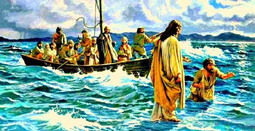 Jesus aparece en el mar y salva a refugiados