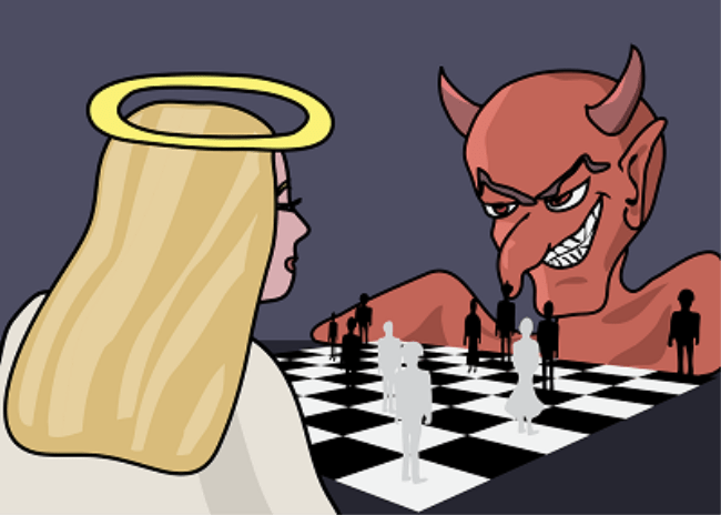 La lucha de bien y el mal