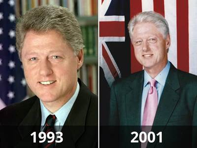 8 stunning photographs of presidents before and after their term in office how presidents age - Bill clinton years in office ...