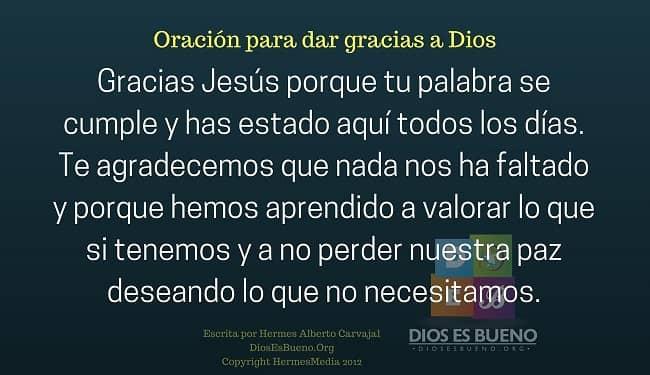 Oracion Para Dar Gracias A Dios Beliefnet