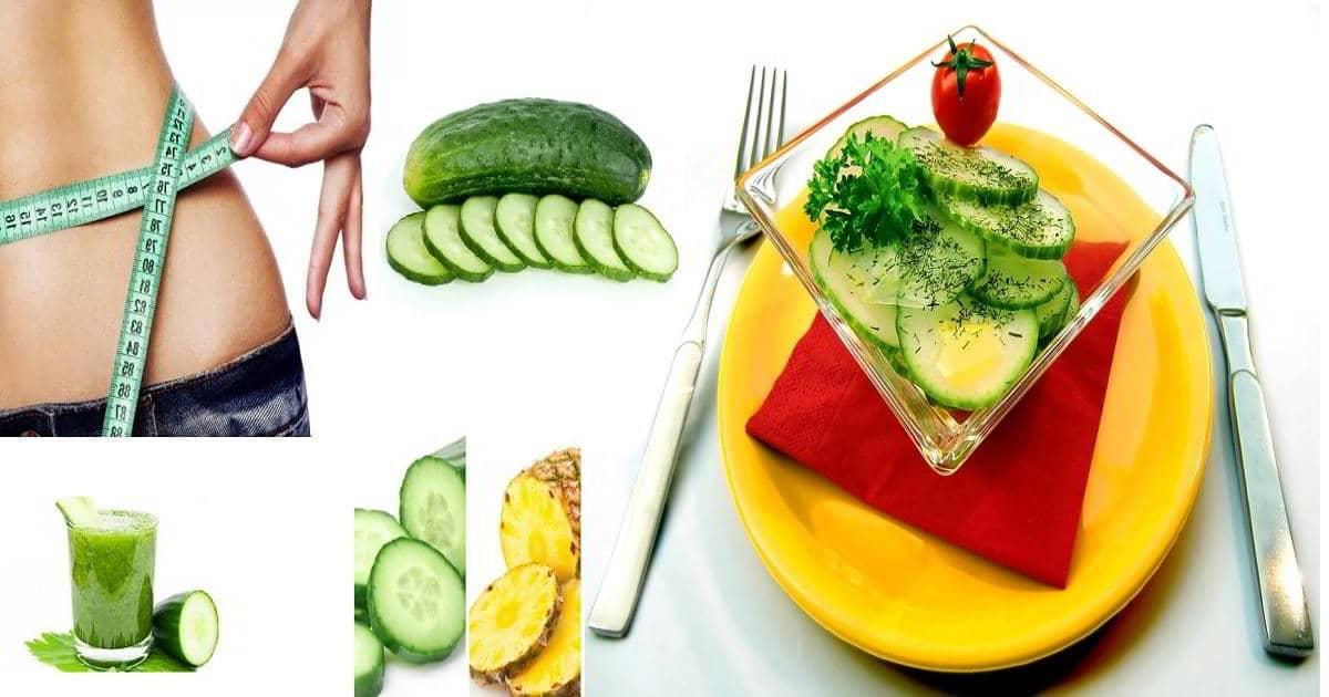 Resultado de imagen para dieta del pepino