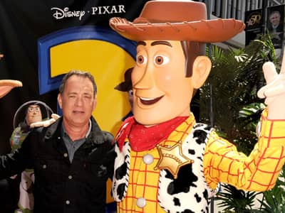 Tom Hanks with Woody at the Toy Story 3 Premiere