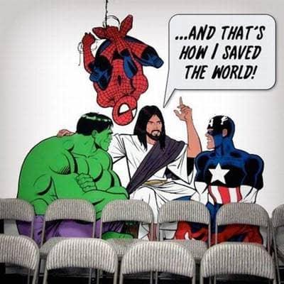 Jesus true super hero, Jesus super powers, Jesus saved the whole world