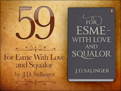 "essay on for esme with love and squalor It turns up in human-to-human interactions, like this one in ""for esmé with love and squalor"": [esmé] nodded ""make it extremely squalid and moving,"" she suggested ""are you at all acquainted with squalor"" i said not exactly but that i was getting better acquainted with it, in one form or another, all the time."