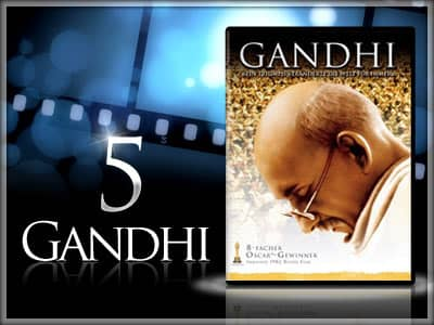 The Top 100 Inspirational Movies: 10 - 1 - 5 - Gandhi