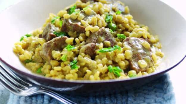 Lamb with Barley Risotto