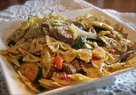 Pasta with Italian Sausage and Vegetables