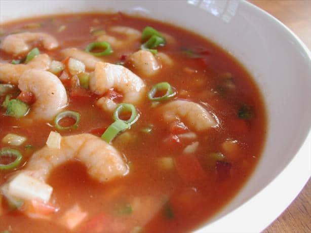 Spicy Shrimp Gazpacho