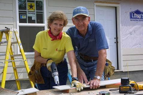 Millard and Linda Fuller, inspiring volunteers, national volunteer week, beliefnet most inspiring