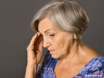 people elderly woman stressed