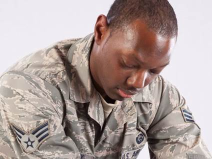 Sad Air Force Military Member