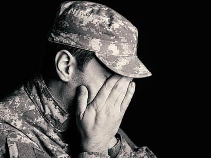 Sad Military Male