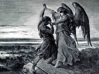 angel wrestles jacob