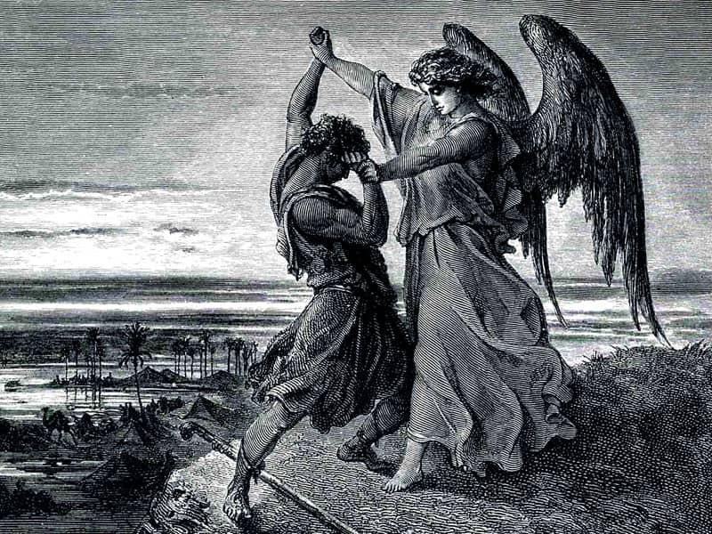 angel wrestles jacob