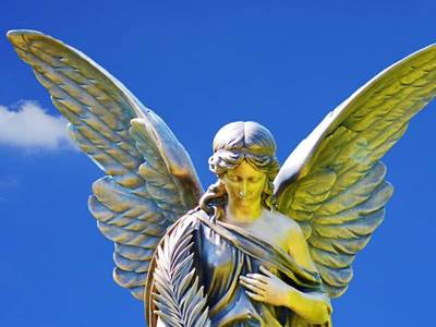 angel in blue skies