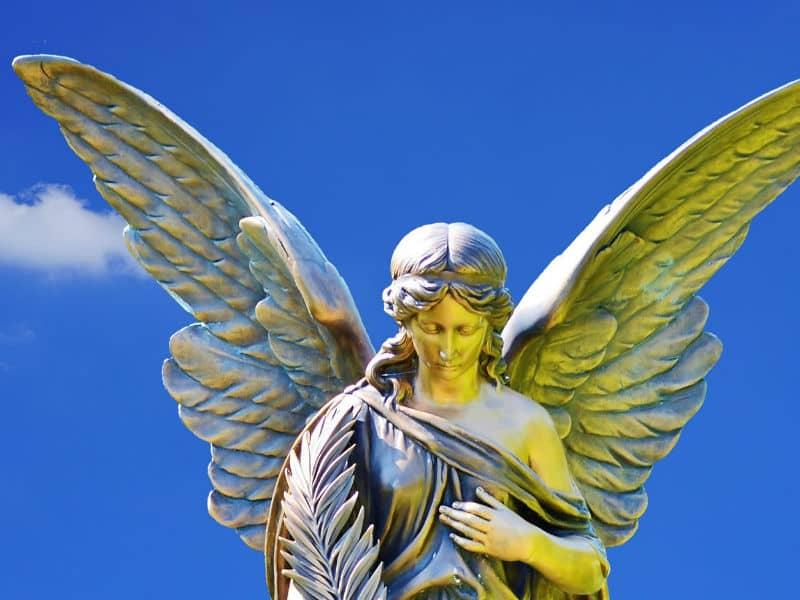 angel in blue skies