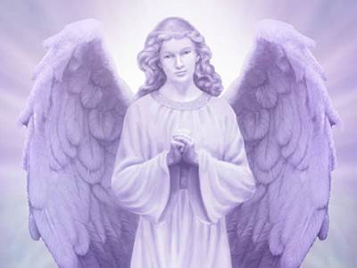 Purple Lit Angel