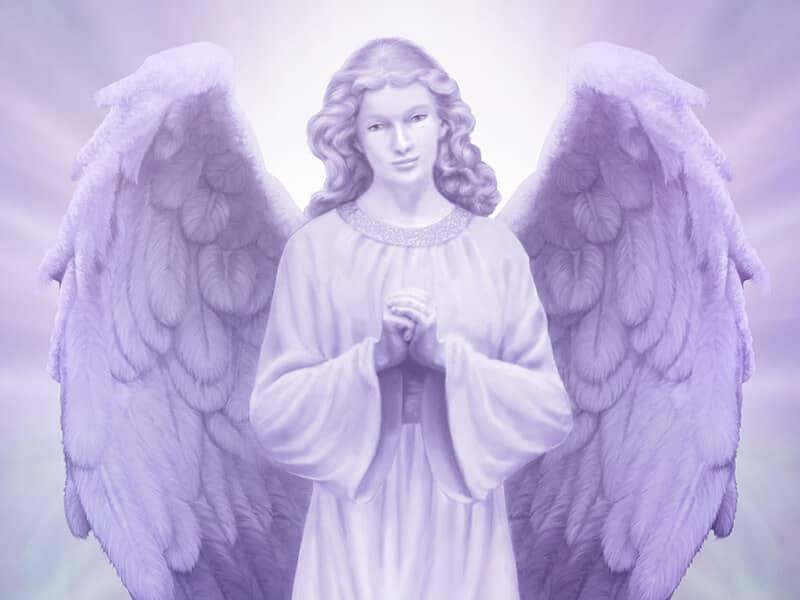 Purple Lit Angel