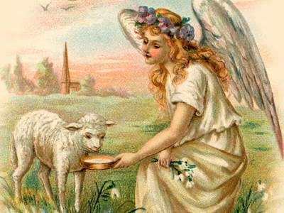 Angel with lamb