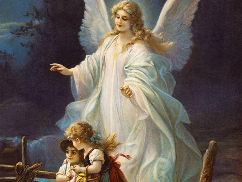 angel watching over children