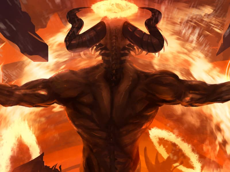 Demon lake of fire hell