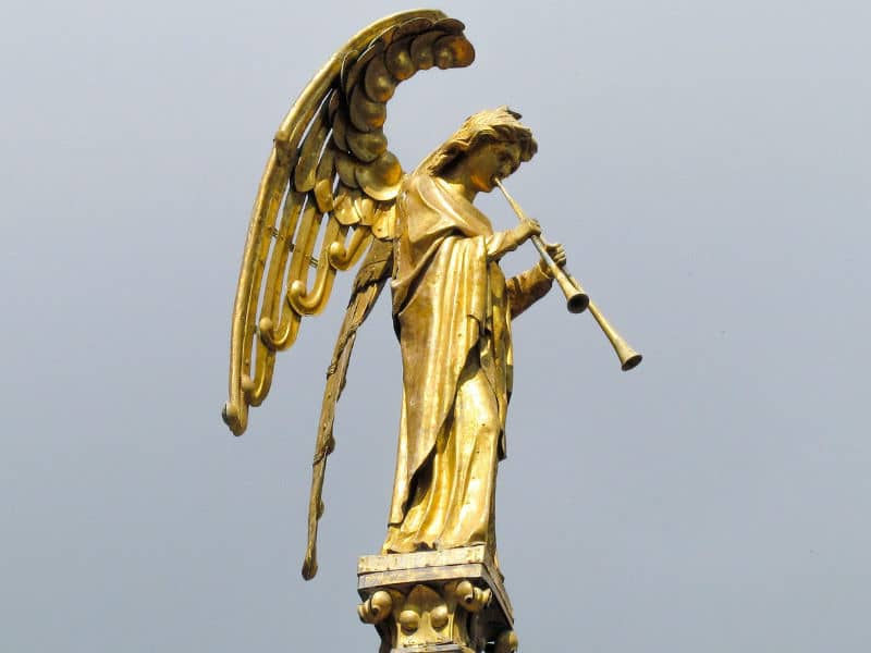 gold angel in gold