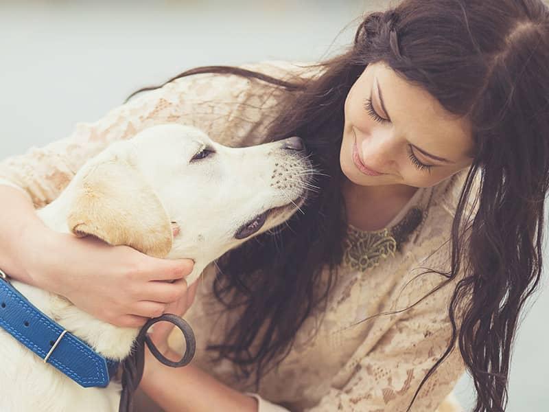 woman-dog