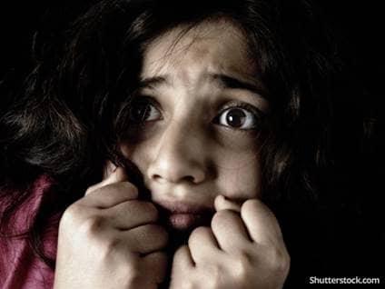 child girl afraid
