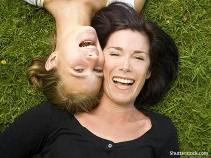 mother daught grass