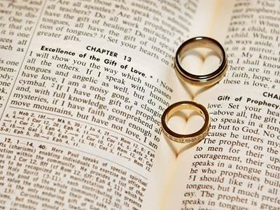 Rings on Bible