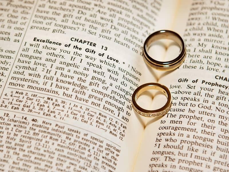 Rings on Bible