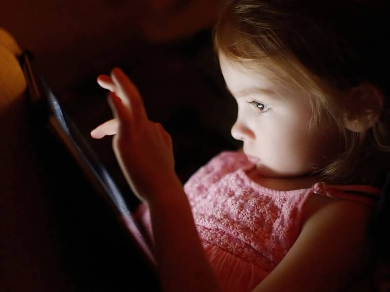 Child on iPad