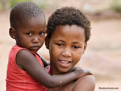 people african children
