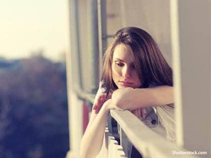 people girl sad thinking