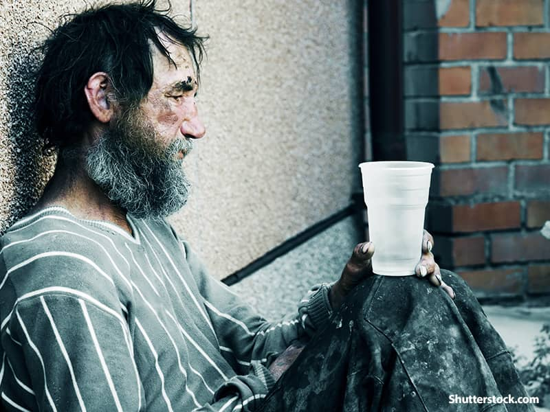 people homeless man