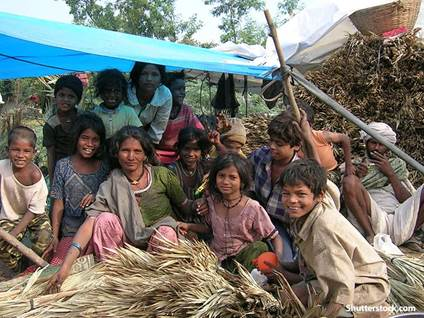 people poverty family