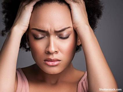 people stressed woman headache