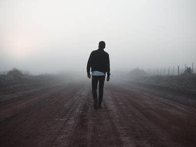 fog man road