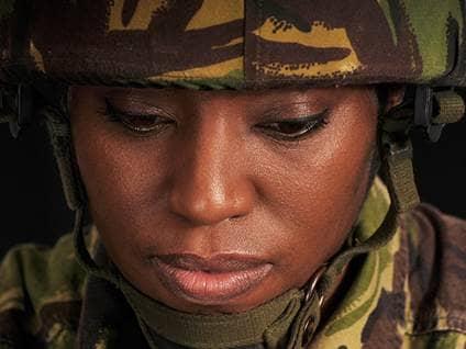Sad Military Member