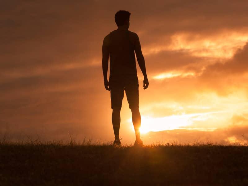 Man Standing in Sun