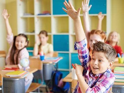 Kids Raised Hands