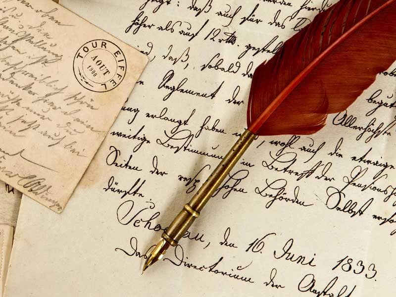 how to hand letter the value of the handwritten letter of the 10514 | writing paper letters antique quill credit shutterstock