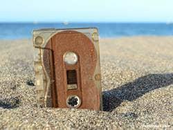 cassette tape sand