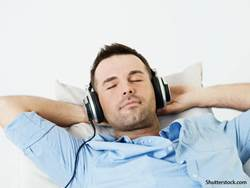 people man listening to music