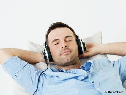 people man listening to music