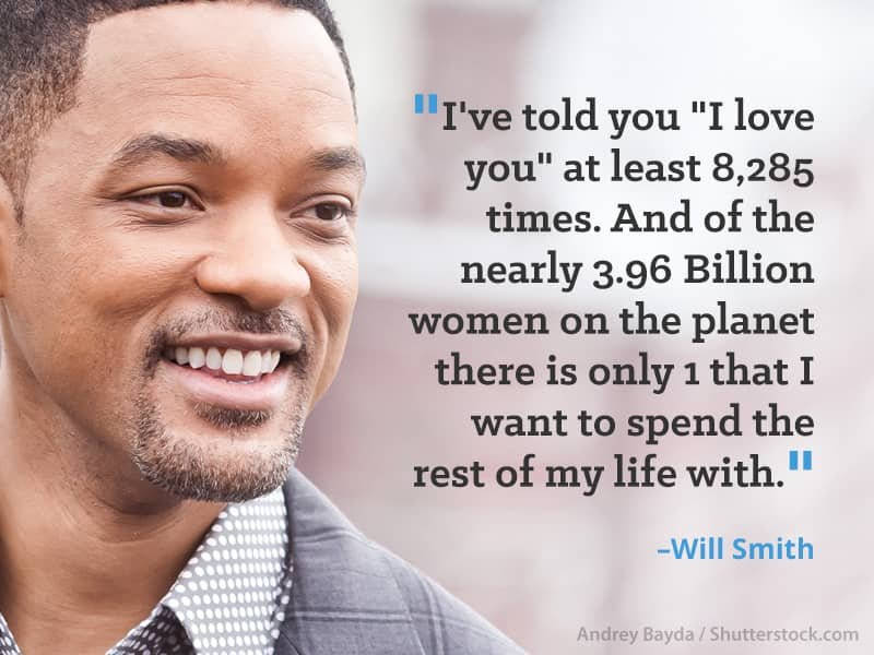 These Celebrity Couples Prove That A True Love Affair Is Sustainable!  Willsmith