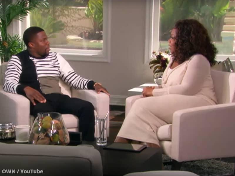 Oprah Winfrey and Kevin Hart